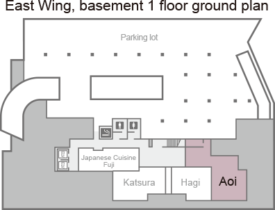 [East Wing, basement 1 ground plan] Aoi.