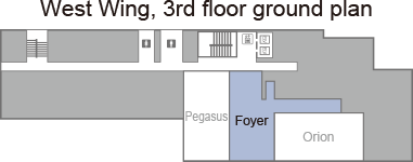 [West Wing, 3rd floor ground plan]